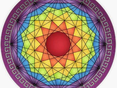 Rainbow Chakra Mandala - Digital Im
