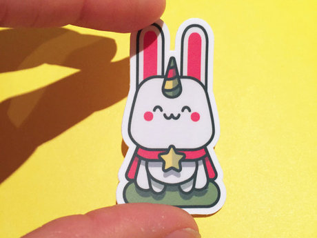 Cute Bunnicorn Vinyl Sticker