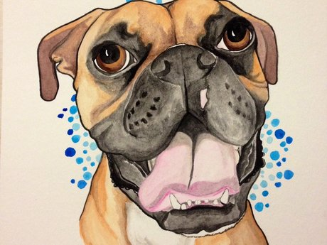 Realistic Watercolor Pet Portraits