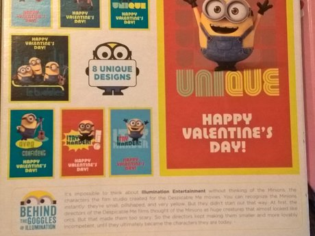 Minions Valentines cards