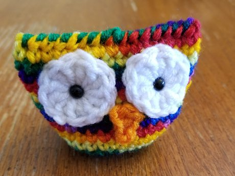 Rainbow Tie-Dye Mini Owl Plush