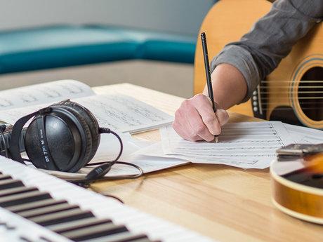Music projects: lyrics to recording