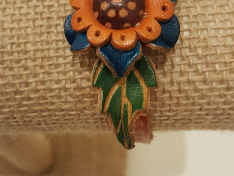 Leather Flower Cuff