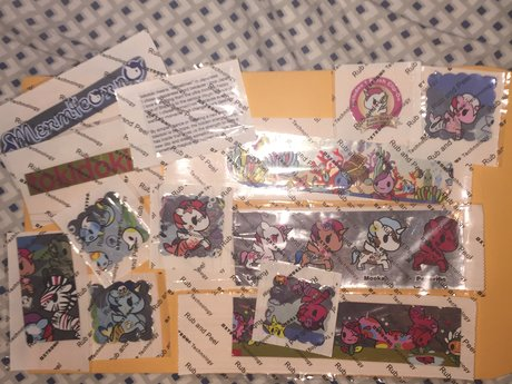 Upcycled Foil Tokidoki Stickers
