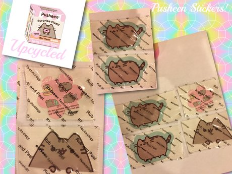 Upcycled Pusheen The Cat Stickers