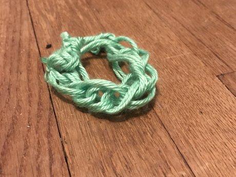 Hand knit bracelet