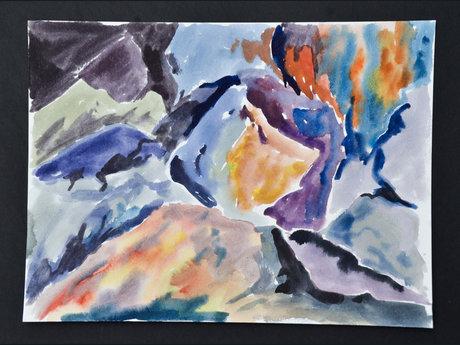 Colorful rocks - 9X12