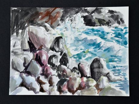 Gull Cove - 9X12 painting