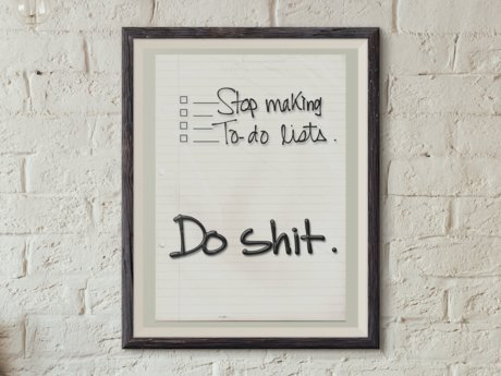 "Funny ""to-do list"" poster"