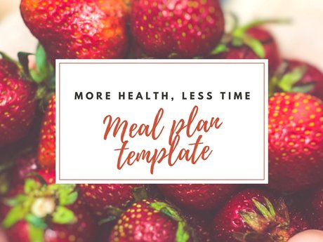 Template Meal Planner