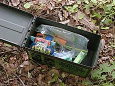 Relief through geocaching