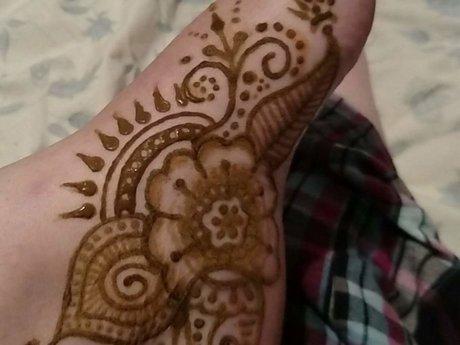 "Henna Tattoo Design 3""x5"""