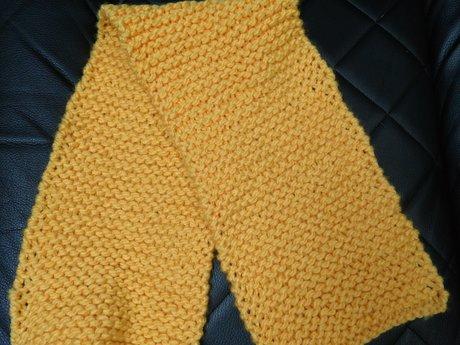 Handmade Knitted Scarf - Yellow