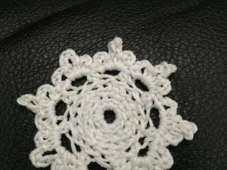 Handmade crochet snowflakes
