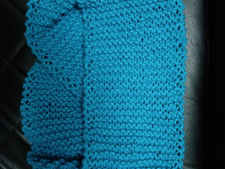Handmade Knitted Scarf - Blue