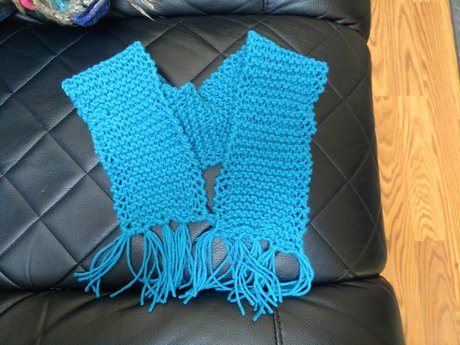 Child's Scarf - Handmade Knitted