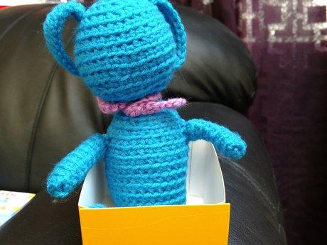 Bunny in a Box:) - Handmade