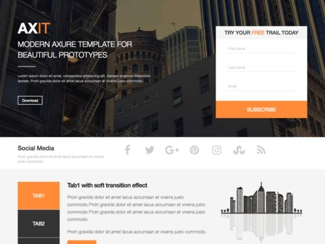 Small Landing page -100% Responsive