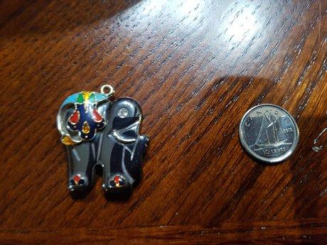 Hematite Elephant Pendant