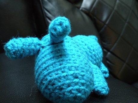 Blue Creature - Handmade - Crochet