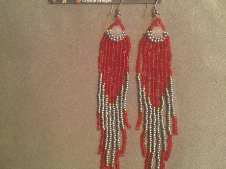Super long shoulder duster earrings
