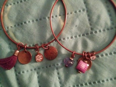 2 bangles with charms