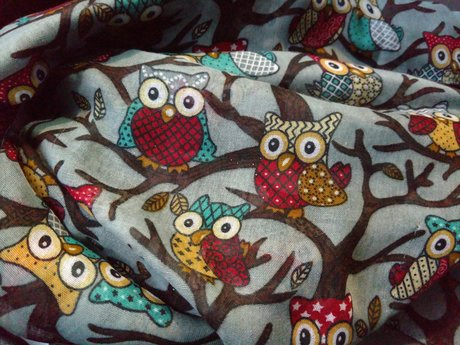 Owl Scarf - Gently Used