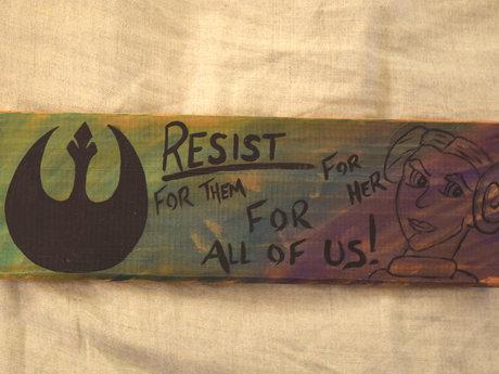 Women's Resist artwork Star Wars