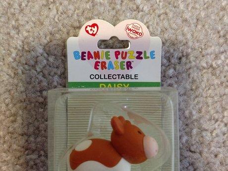 Beanie Puzzle Eraser - Cow - Daisy