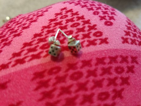 Tiny Dice Earrings