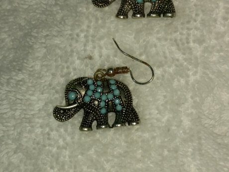 Gently Used Elephant Earrings