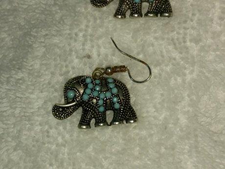 Gently Used Elephant Earrings
