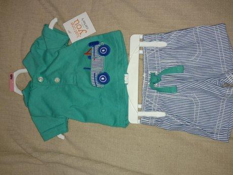 Newborn Carter boy's outfit
