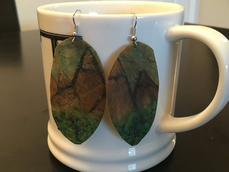 WaterColor mountain Kombucha Earrin
