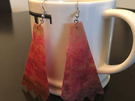 Pink Ombre Kombucha Earrings