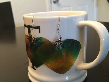 Rainbow Heart Kombucha earrings