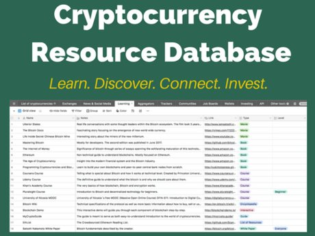 Cryptocurrency Resource Database!