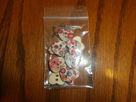 Heart Shaped Wooden Buttons