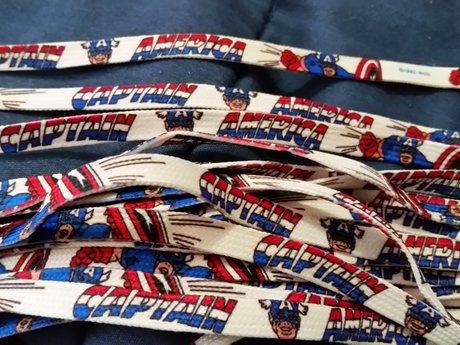 Vintage 36 inch Capt America laces