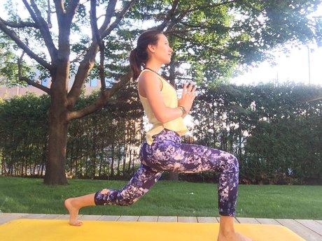 Semi private yoga session
