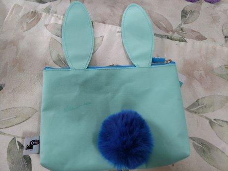 Bunny Zip Pouch - Blue