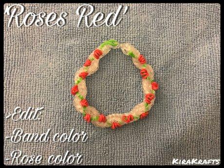 'Roses Red' (Loom Bracelet)