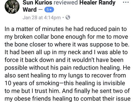Pain relief healing