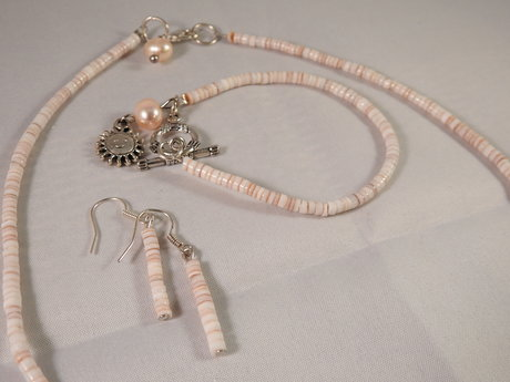 Handmade Coral jewelry set