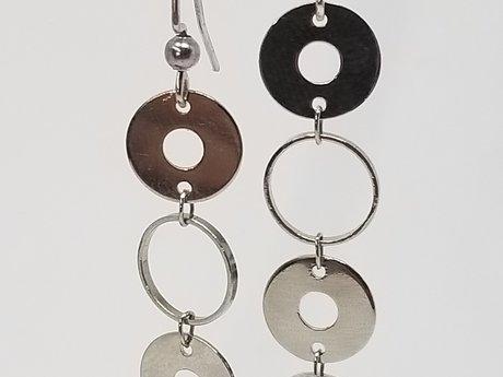Multi-circle Drop Earrings