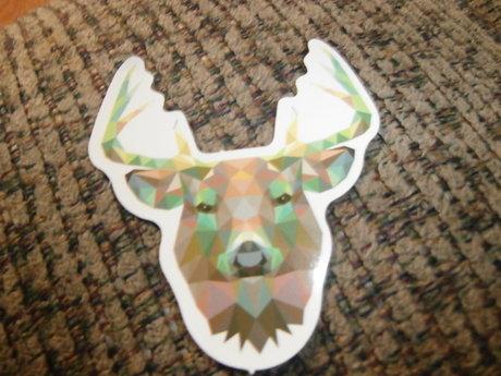 Pixeled Deer Sticker