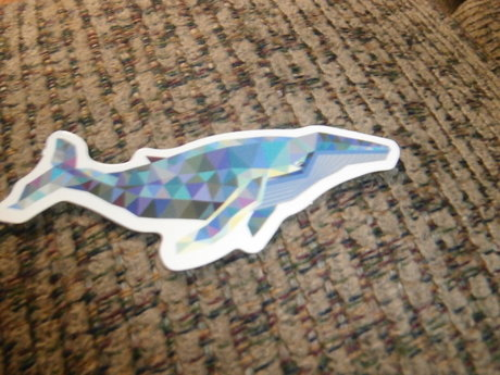 2 Pixelated Whale Stickers