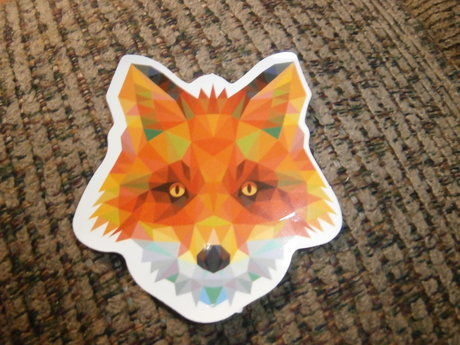Pixelated Fox Sticker