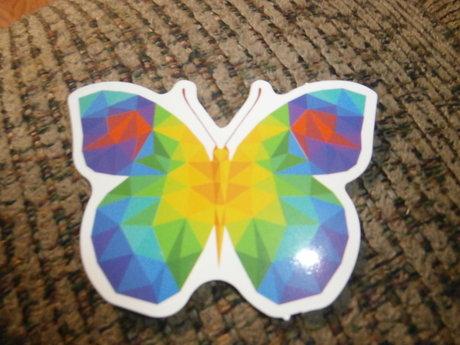 Pixelated Butterfly Sticker