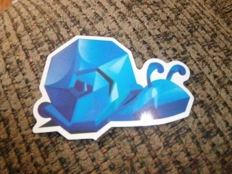 Pixelated Snail Sticker